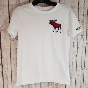 Abercrombie kids white logo tshirt sz 11/12